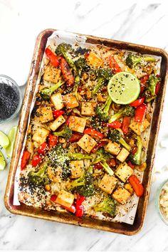Sheet Pan Chinese Cashew Tofu