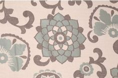 3.5 Yards Richloom Aurita Tapestry Upholstery Fabric in Aquamarine