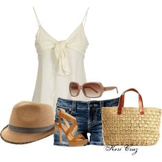 A fashion look from June 2013 featuring ralph lauren shirts, blue shorts and high heeled footwear. Browse and shop related looks. Short Outfits, Casual Outfits, Summer Outfits, Cute Outfits, Fashion Outfits, Womens Fashion, Summer Clothes, Fasion, I Love Fashion