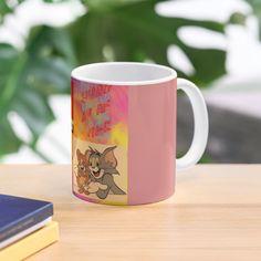 'tom and Jerry cartoon design ' Mug by Madhuri Mahajan Tom And Jerry Cartoon, Art Text, Cartoon Design, Toms, My Arts, Ceramics, Art Prints, Printed, Tableware