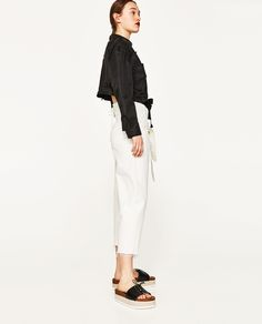 ZARA - WOMAN - STUDIO TROUSERS WITH BELT