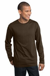 District Made Perfect Weight Long Sleeve District Tee Shirt Item #TRIFF-FLLVH $13.98 each email info@powerupmarketinggroup.com to request a quote on customizing this shirt with your logo or graphic. #powerupmarketng #mensapparel #longsleevedtshirt #promotional #branded