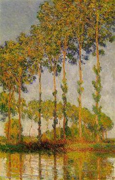 Poplars, Row in Autumn - Claude Monet