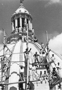 Construcción de la iglesia con la cúpula más grande del país y la tercera de Latinoamérica, La Piedad, Michoacan, Mexico