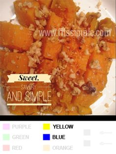 21 Day Fix Recipes, Meal Plans, and ALL THE DETAILS!!!   Is it a side dish or dessert... who cares because its simple and GOOD!  Sweet Potato with Walnuts!