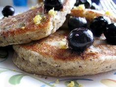 whole grain lemon poppyseed pancakes (vegan)
