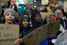 Dozens of middle school students led a march Thursday night from a Near North Side school to the Cook County Juvenile Temporary Detention Center to protest police brutality and what they decried as a school-to-prison pipeline.