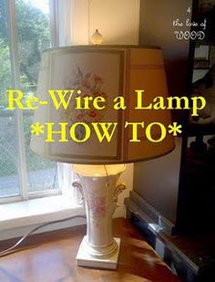 How to re-wire a lamp.....