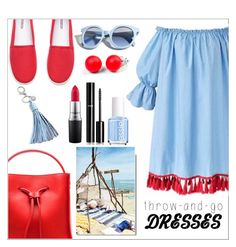 """""""Throw-and-go dresses!"""" by xitsella ❤ liked on Polyvore featuring 3.1 Phillip Lim, Essie, Chanel, MAC Cosmetics, Pinko, Hring eftir hring and Rebecca Minkoff"""