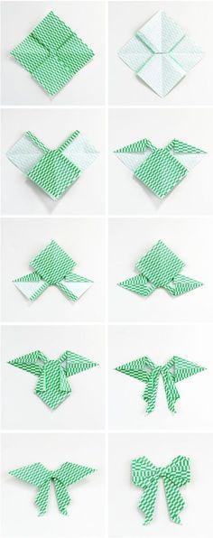 Gathering Beauty: Diy Origami Bow.