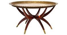 Brass Spider-Leg   Cocktail Table $695
