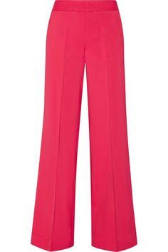 Oscar de la Renta - Stretch-cady Wide-leg Pants - Fuchsia