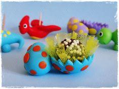 Porta docinho ovo de dinossauro