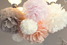 Pom Poms from @Kara's Party Ideas #partydecor