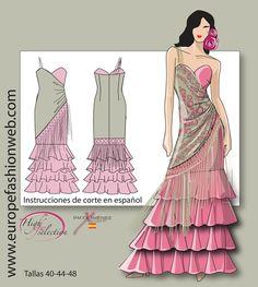 "Vestido flamenca ""Mantón"""