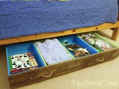 how to use old drawers for under the bed storage, bedroom ideas, repurposing upcycling, storage ideas, woodworking projects Diy Storage Bed, Under Bed Storage, Storage Ideas, Bedding Storage, Doll Storage, Storage Solutions, Old Dresser Drawers, Kitchen Drawers, Kitchen Storage