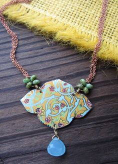 Persephone Recycled Tin Necklace. $46.00, via Etsy.