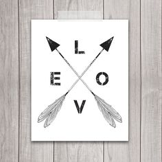50% OFF SALE Love Arrow Print  8x10 Arrows by DreamBigPrintables