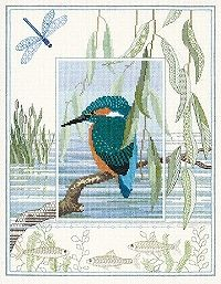 Kingfisher Cross Stitch Creative Backstitch