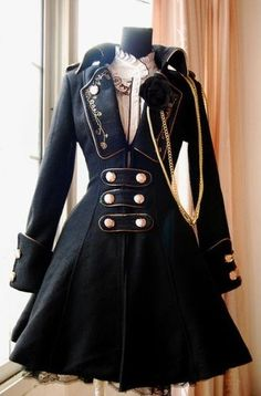 Browse our hundreds of quality Lolita coats 2019 to find the right Lolita jackets in custom colors to match lolita dresses! Get your favortie Lolita coat or Lolita jacket at sale price today! Mode Steampunk, Victorian Steampunk, Steampunk Costume, Steampunk Clothing, Steampunk Jacket, Steampunk Dress, Steampunk Necklace, Steampunk Outfits, Steampunk Female