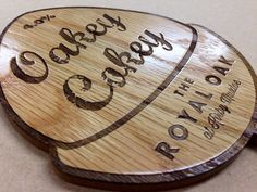 Bespoke signage for Pub. Engraved and lacquered oak faced MDF. Call 0800 78 35 887 or email sales@majisign.co.uk