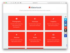 Makerbook is a hand-picked directory of the best free resources for creatives. | via Swissmiss