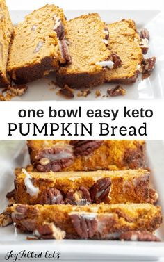Five Minute Prep! This easy Pumpkin Bread mixes up in no time. A wooden spoon and 5 minutes of your time are all it takes to get this delectable fall treat into the oven.