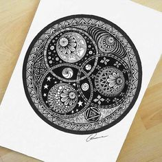 """Astronomy compels the soul to look upwards and leads us from this world to another"" #mandalala #mandala #drawing #artistic_empire #artshare #art_help #oksanastepanova #artfido #zentangle #mysticalmandalas #astrology #art #ink #mandaladesign #love_mandalas #artist_4_shoutout #artistic_nation #artist_sharing #daily_art #instaart #instaartist #artshelp #micron #artistic_share"