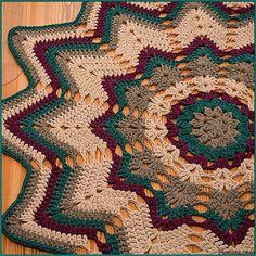 crochet mats and rugs Scrap Yarn Crochet, Crochet Mat, Crochet Rug Patterns, Crochet Towel, Crochet Afgans, Doily Patterns, Crochet Doilies, Crochet Stitches, Crochet Star Blanket