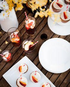 Sweet Peach Tea Cupcake with Honey Cream Cheese Frosting