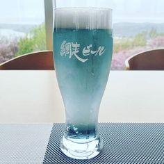 #網走ビール 流氷DRAFTオホーツク海の流氷を仕込み水に使っているそうです #オホーツク流氷館 内のカフェでいただきました #beer #craftbeer #blue #abashiri #hokkaido #北海道