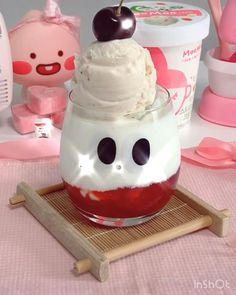 Japanese Snacks, Japanese Food, Kawaii Bedroom, Cute Baking, Cute Room Decor, Gamer Room, Cafe Food, Refreshing Drinks, Cute Gif