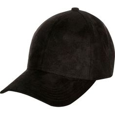 C.C. Suede Black Ball Cap