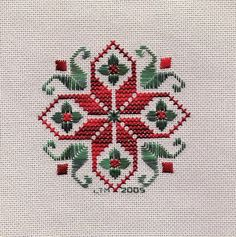 Diy Crafts - Lynn uploaded this image to 'Christmas Ornaments'. See the album on Photobucket. Cross Stitch Bookmarks, Cross Stitch Borders, Cross Stitch Flowers, Cross Stitch Charts, Cross Stitch Designs, Cross Stitching, Cross Stitch Patterns, Hardanger Embroidery, Cross Stitch Embroidery