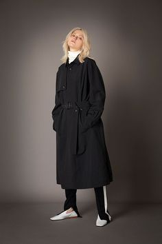 2021-22 A/W 020, Water-repellent Nylon Ripstop Shirt Cut Trench Coat FRC-C02-601, Wool Rib + Wool Jersey Combination T-shirt FRC-T08-110, Microfiber Jersey Extra Tapered Track Pants FRC-P07-600 Cut Shirts, Raincoat, Normcore, Wool, Pants, Jackets, Trench, Collection, Water