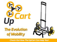 All-terrain, stair-climbing folding cart that's Up for anything! The UpCart will upgrade the way you move things.