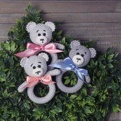 Купить Игрушка прорезыватель грызунок погремушка Медвежонок - игрушка, игрушка-прорезыватель, прорезыватель, для малышей, для детей