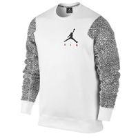 Jordan Ele Sleeve Fleece Crew - Men's - White / Black