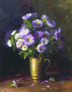 俄罗斯画家 Serguei Toutounov 花卉作品欣赏。-  涧边草 - 涧边草的博客