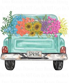 Antique Truck with Flowers Digital Image PNG Truck Sublimation PNG Spring Antique Truck Image Hand Drawn Floral Old Pickup Truck by EmilyMichaelDesigns on Etsy Antique Trucks, Vintage Trucks, Old Pickup Trucks, Chevy Trucks, Flower Truck, Wreath Drawing, Truck Paint, I Love My Dad, Hand Drawn Flowers
