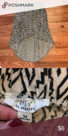 Printed skirt High to low Skirt. iris Skirts High Low