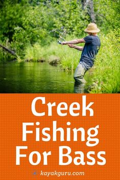 Read our 8 secrets to catching more bass in the creeks. Consider The Current Look For Overhanging Trees Use A Kayak Look For Weeds In Summer Prespawn Bass Target Pools Use The Right Gear Creeks In The Fall Pike Fishing Tips, Walleye Fishing Tips, Fishing 101, Fishing Tricks, Women Fishing, Fishing Quotes, Fishing Tackle, Lake Trout Fishing, Ice Fishing