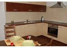 Mobila Bucatarie Anemona Kitchen Island, Kitchen Cabinets, Home Decor, Restaining Kitchen Cabinets, Homemade Home Decor, Kitchen Base Cabinets, Interior Design, Home Interiors, Decoration Home