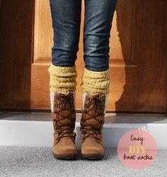 i totally adore this chick! DIY boot socks from old sweaters -- EASY + NO SEWING REQUIRED
