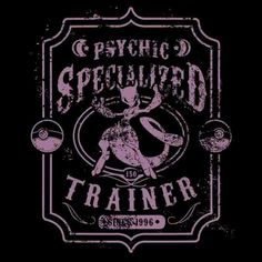 Psychic Specialized Trainer 2 T-Shirt $12.99 Pokemon tee at Pop Up Tee!