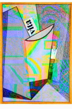 pastello su carta + elaborazione digitale autore-angelo bressanini