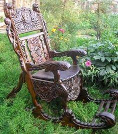 Резное.ру - Резное кресло-качалка,