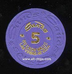 $5 Sands NCV Tournament Chip 1980's UNC