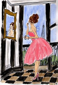 Pretty in Pink in Paris