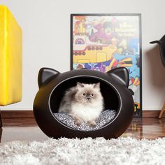 Guisapet Pet Bed candy coloured dog and cat cave is a perfect place for your pet to snooze inside. The oval shape cave bed makes cats and dogs feel safe as they like to Crazy Cat Lady, Crazy Cats, Pet Shop, Niche Chat, Pet Station, Cat Cave, Deco Design, Pet Accessories, Cat Toys